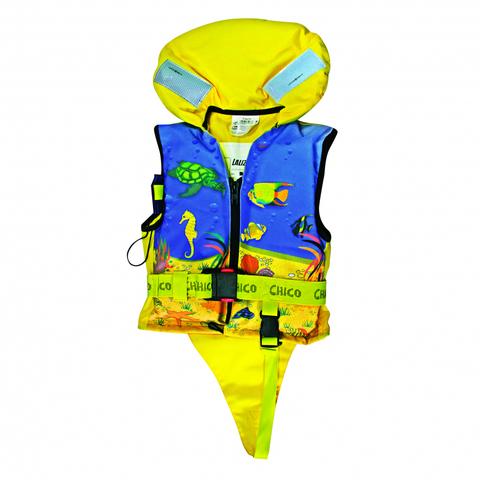 Жилет спасательный детский Chico 100N, 30-40 кг, желтый