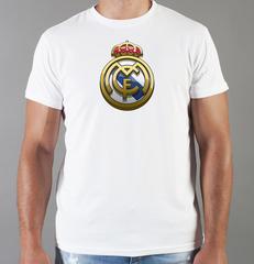 Футболка с принтом FC Real Madrid (ФК Реал Мадрид) белая 007