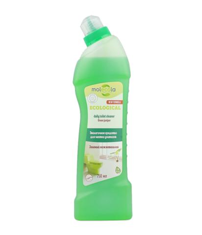 Средство для чистки унитазов и сантехники Зеленый можжевельник Molecola, экологичное, 750мл