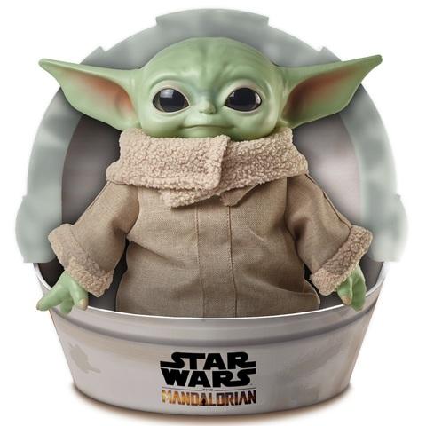Звёздные войны: Мандалорец Плюшевый Малыш Йода 28 см в Упаковке-коляске