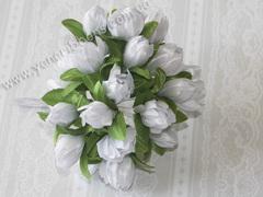 Букет Тюльпаны тканевые белые