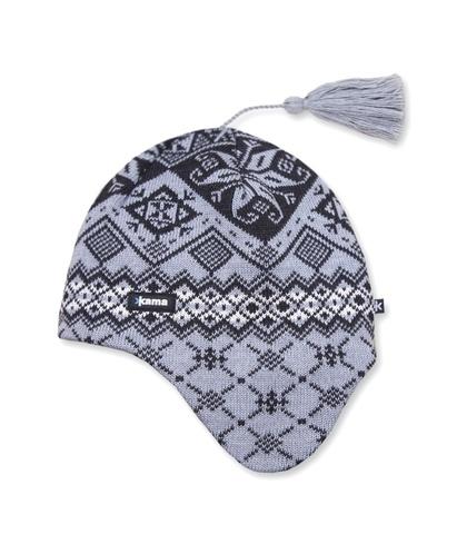Картинка шапка с ушами Kama A74 Grey - 1