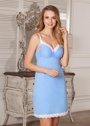 Ночная сорочка-бюстгальтер Marta для кормящих; цвет: голубой 8805