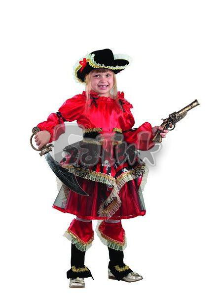 Детский карнавальный костюм Пиратка (красная)