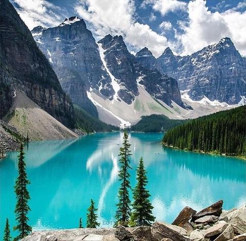 Алмазная Мозаика 40x50 Горное озеро невероятной красоты (арт. LT0117)