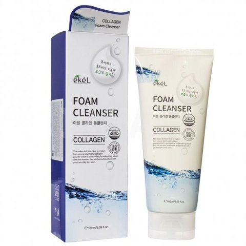 Ekel Collagen Foam Cleanser очищающая пенка с коллагеном