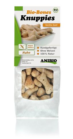 """""""Knuppies Bio-Bones Schia"""" Хрустящие кексы с курицей и семенами плодов чиа"""
