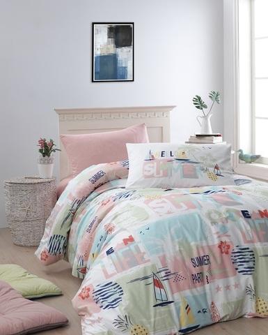 Комплект постельного белья DO&CO RANFORCE 1,5 спальный (Евро) SUMMER
