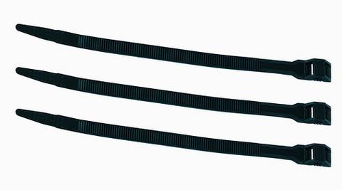 Кабельный хомут с горизонтальным замком (не разъемный) КСГ 9х360 черный (100 шт) TDM