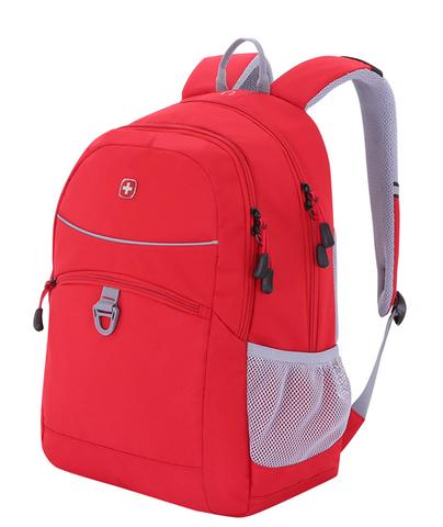 Рюкзак Wenger (6651114408) красный/серый, со светоотражающими элементами, 33x17x46 см, 26л