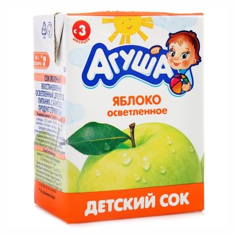 Сок АГУША Яблоко осветленный 200 мл РОССИЯ
