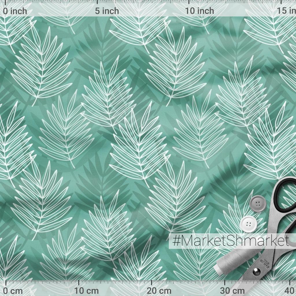 Листья пальмы на бирюзовом