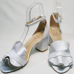 Стильные женские сандалии босоножки с закрытой пяткой и открытым носком Ari Andano K-0100 White