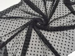 Эластичная сетка, мушки, 5 мм, черная (Арт: ESM-170)