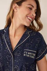 Комбінезон сорочкового типу з принтом «Міккі Маус»