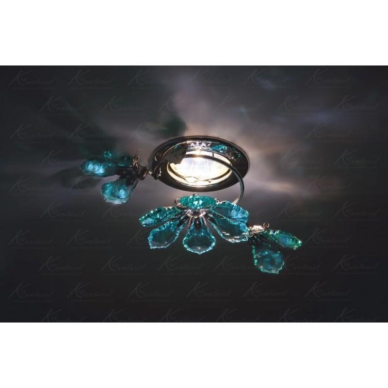Встраиваемый светильник Kantarel Flourish CD 024.3.1/3 ant green