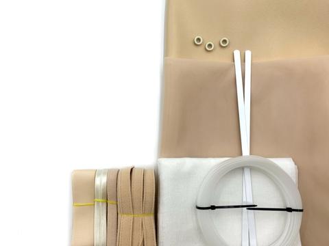 Набор Прозрачный подгрудный корсет, бежевый/молочный