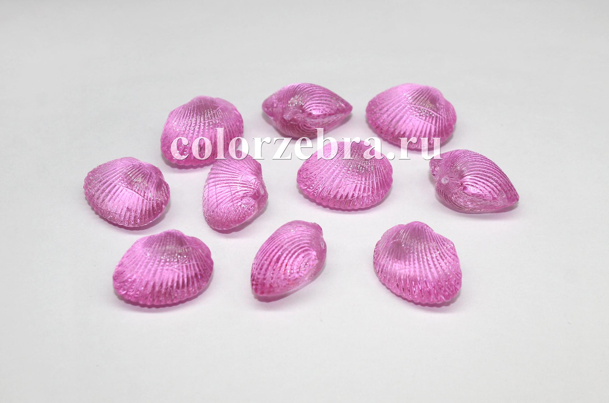 Декоративные двустворчатые ракушки из пластика