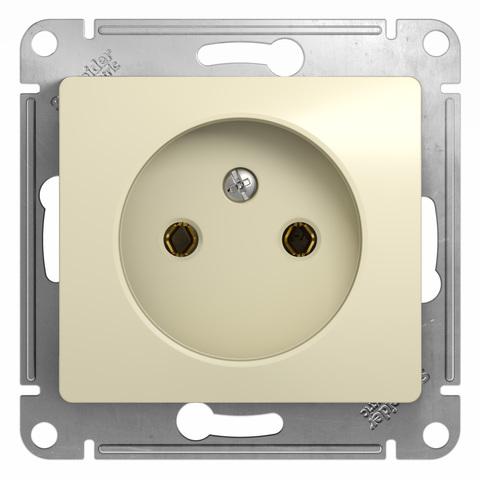Розетка без заземления, 16А. Цвет Бежевый. Schneider Electric Glossa. GSL000241