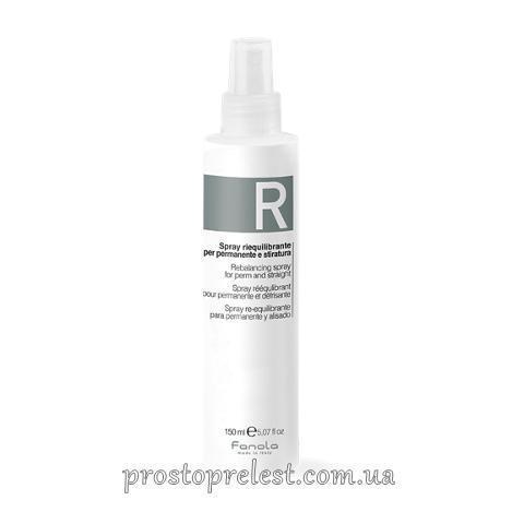 Fanola Rebalancing Spray For Perm And Straight - Спрей відновлюючий pH
