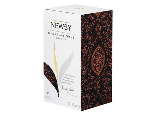 Чай черный в пакетиках Newby Black tea & Thyme, 25 пак/уп