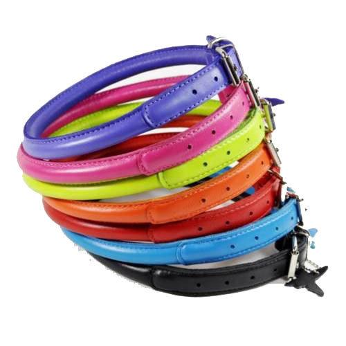 2240 Круглые кожаные ошейники для собак collar