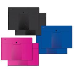 Папка конверт на кнопке А4, 180мкм, Attache Digital ассорти, 6 шт.уп.