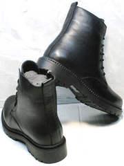 Модные демисезонные ботинки под мартинсы осень весна женские Misss Roy 252-01 Black Leather.