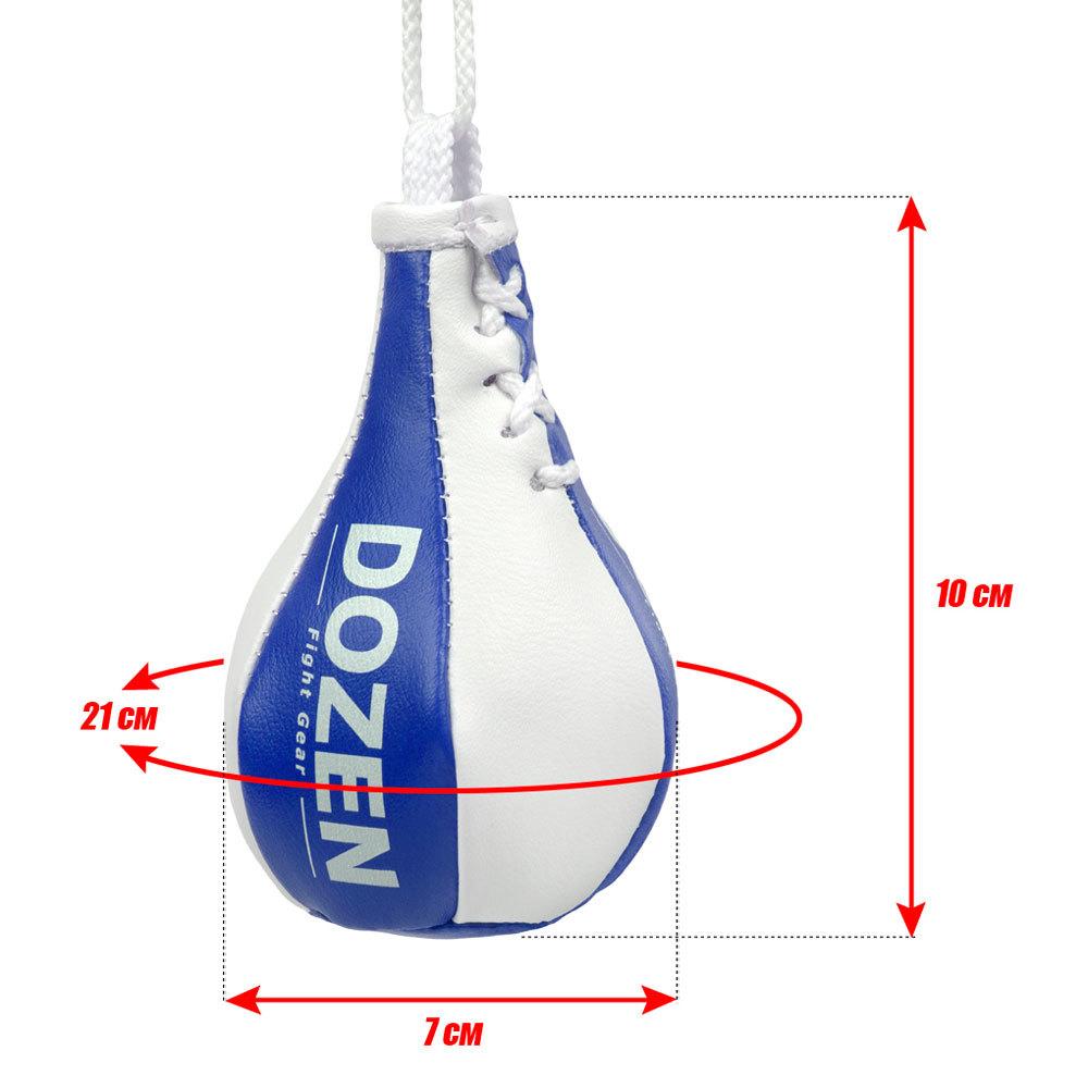 Брелок мини-груша Dozen Light сине-белый размеры