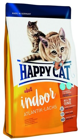 Сухой корм Happy Cat  Adult Indoor Atlantik-lachs
