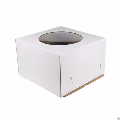 Коробка для торта, 28*28*18см с окном