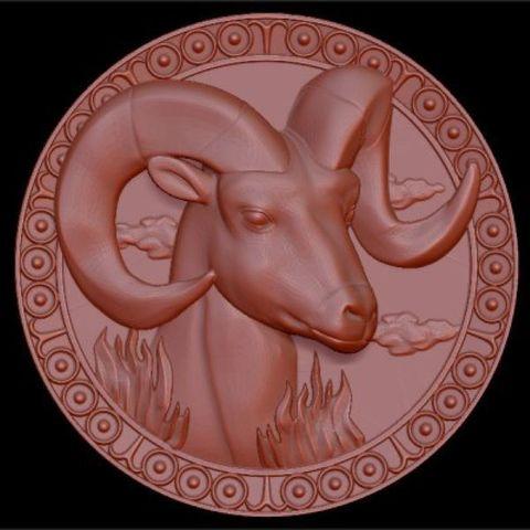 Силиконовый молд №   медальон Козерог