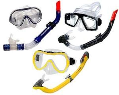 Купить комплект из маски и трубки для подводного плавания