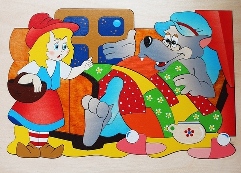 Мозаика-вкладыш Красная шапочка, Крона, арт. 143-035