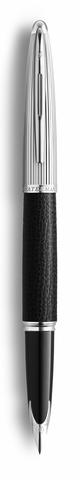 Перьевая ручка Waterman Carene Special Edition Black Leather  цвет: Black/Silver, палладиевое перо: F123