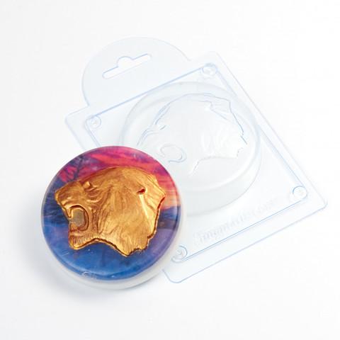Рычащий тигр форма пластиковая