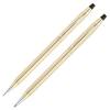 Набор подарочный Cross Century Classic - 10 Karat Rolled Gold, шариковая ручка + карандаш