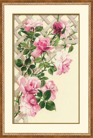 производитель РИОЛИС ¶артикул 898¶размер 35х55¶техника счетный крест¶тематика цветы¶состав канва 15
