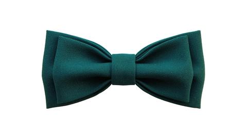 Однотонный галстук - бабочка (темно-зеленый)