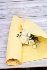 Бумага Эколюкс, однотонный, Желтый пастель 70см* 5 м, 1 рулон.