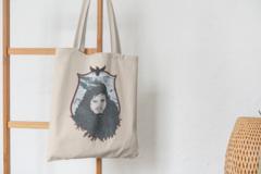 Сумка-шоппер с принтом Игра престолов, Джон Сноу (Game of Thrones, Jon Snow) бежевая 004
