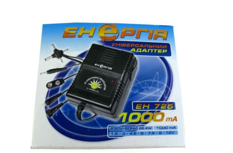 Блок питания Энергия ЕН-725 (1,5-12V,1000mAh)