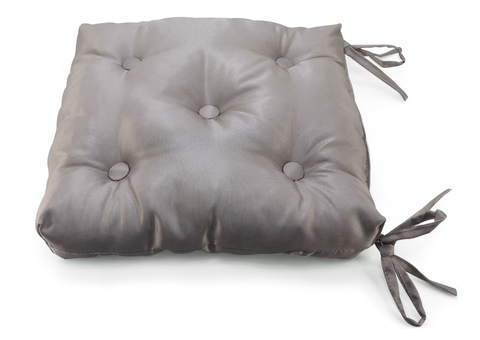 Подушка на стул жаккард Элегия темно-коричневый