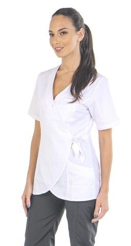 Медицинский топ-кимоно женский белый MC6076_WHT
