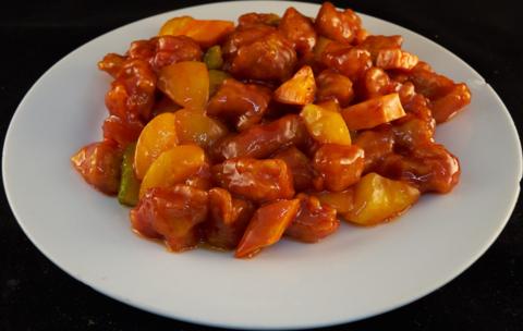 7--19Свинина с персиком黄桃肉段585р400гр