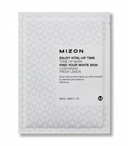 MIZON Enjoy Vital Up Time Tone Up Mask Осветляющая тканевая маска для лица 25 мл