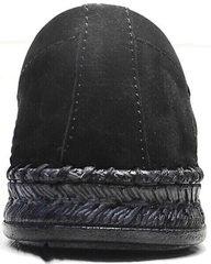 Полуспортивные туфли мокасины кожаные мужские смарт кэжуал Luciano Bellini 91754-S-315 All Black.