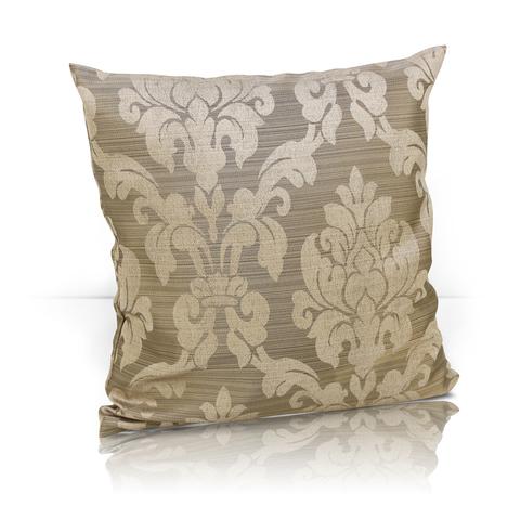 Подушка декоративная Афина жаккард светло-коричневый