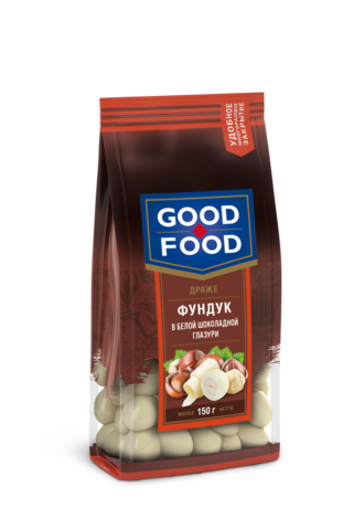 GOOD FOOD Фундук в белой глазури 150г