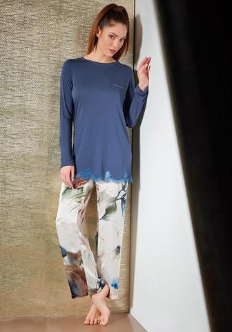 Шикарная женская пижама из натурального шелка и модала
